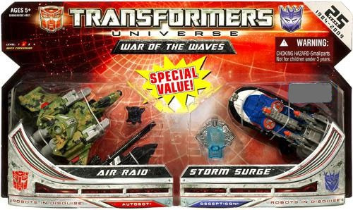 Transformers Universe Air Raid & Storm Surge Exclusive Action Figure 2-Pack [War of the Waves]