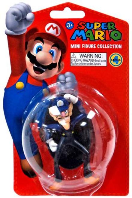 Super Mario Bros Series 4 Waluigi 2-Inch Vinyl Mini Figure