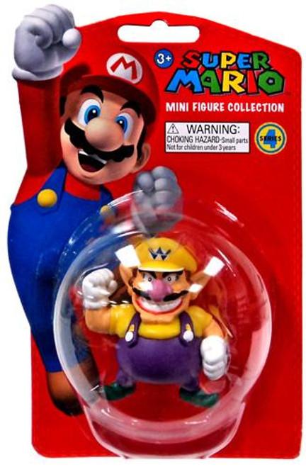 Super Mario Bros Series 4 Wario 2-Inch Vinyl Mini Figure