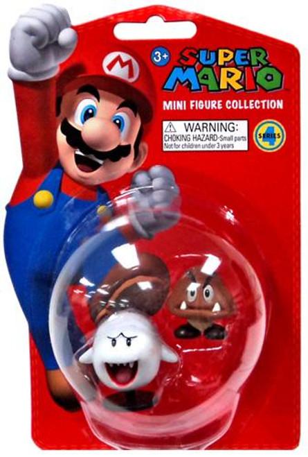Super Mario Bros Series 4 Boo & Goomba 2-Inch Vinyl Mini Figures