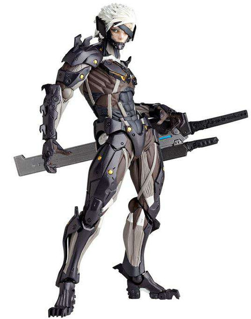Metal Gear Solid Metal Gear Rising Revengeance Revoltech Raiden Exclusive Action Figure [White Armor]