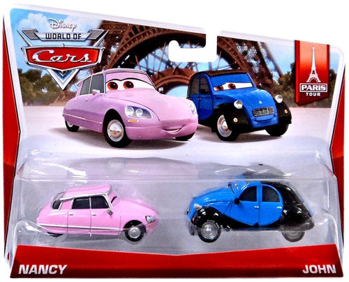 Disney / Pixar Cars The World of Cars Nancy & John Diecast Car 2-Pack #1/7 & 2/7