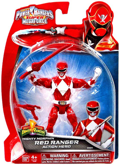 Power Rangers Super Megaforce Mighty Morphin Red Ranger Action Hero Action Figure