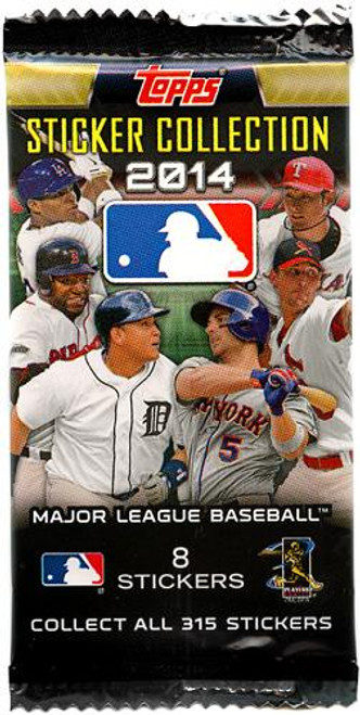 MLB Topps 2014 Baseball Sticker Collection Pack [8 Stickers!]