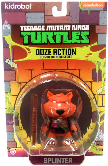Teenage Mutant Ninja Turtles Nickelodeon Ooze Action Glow in the Dark Series Splinter 3-Inch Mini Figure