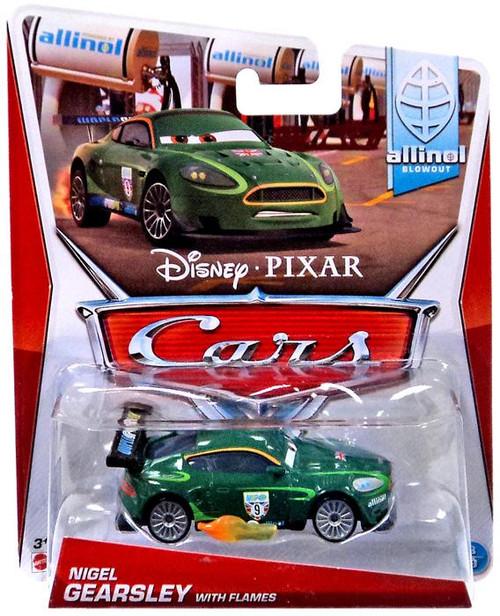 Disney / Pixar Cars Nigel Gearsley with Flames Diecast Car #3
