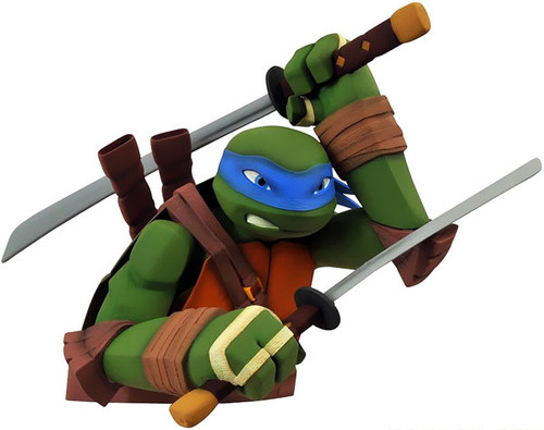 Teenage Mutant Ninja Turtles Nickelodeon Leonardo Vinyl Bust Bank