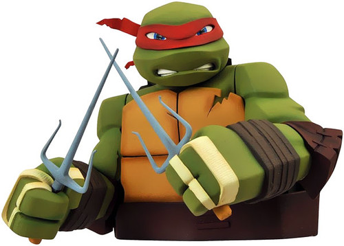 Teenage Mutant Ninja Turtles Nickelodeon Raphael Vinyl Bust Bank