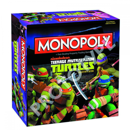 Nickelodeon Teenage Mutant Ninja Turtles Monopoly Board Game
