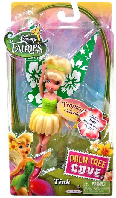 Disney Fairies Palm Tree Cove Tropical Collection Tink 4.5-Inch Figure [Green & Yellow]