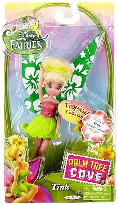 Disney Fairies Palm Tree Cove Tropical Collection Tink 4.5-Inch Figure [Green & Pink]