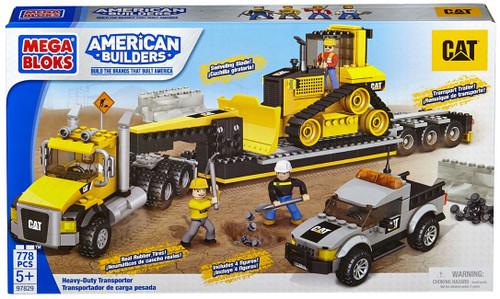 Mega Bloks American Builders Cat Heavy-Duty Transporter Set #97829