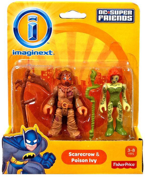 Fisher Price DC Super Friends Imaginext Scarecrow & Poison Ivy 3-Inch Mini Figures