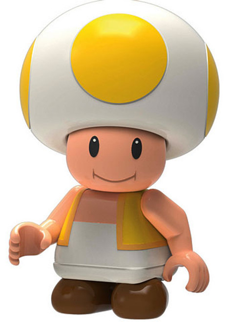 K'NEX Super Mario Toad 2-Inch Minifigure [Yellow Loose]