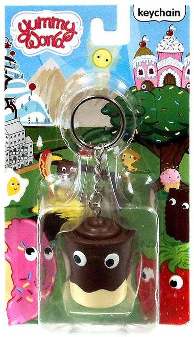 Yummy World Chocolate Pudding Cup Keychain