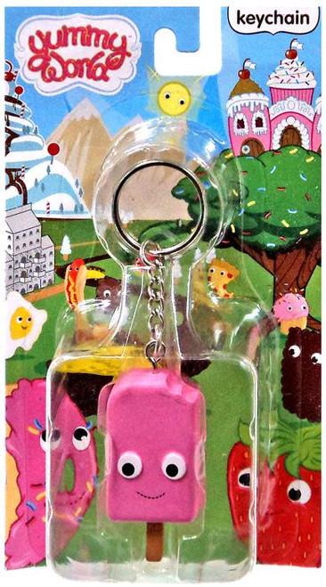 Yummy World Strawberry Ice Cream Pop Keychain