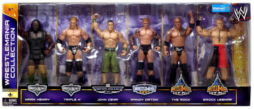 WWE Wrestling Henry, Triple H, Cena, Orton, Rock & Lesnar Exclusive Action Figure 6-Pack