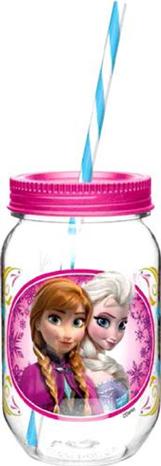 Disney Frozen 19 Oz Anna & Elsa Tritan Canning Jar