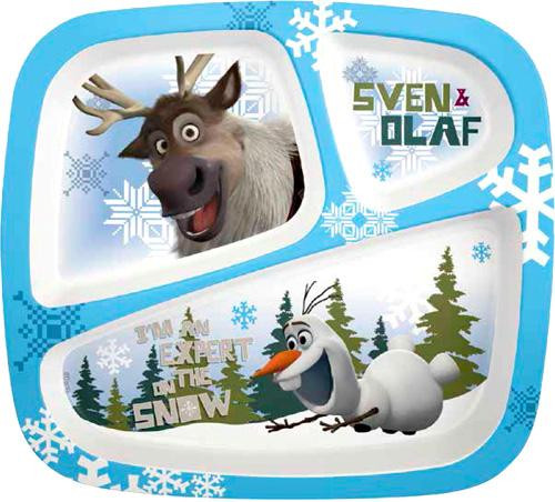 Disney Frozen Olaf & Sven 3-Section Tray