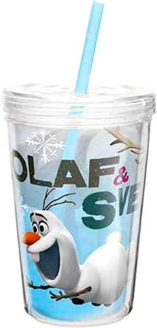 Disney Frozen 13 Oz Olaf & Sven Double-Wall Tumbler with Straw