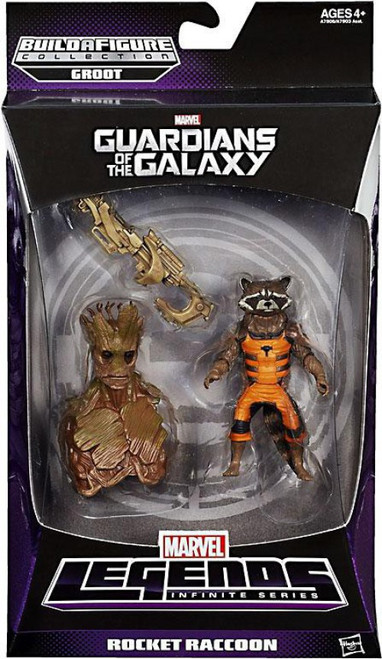 Guardians of the Galaxy Marvel Legends Groot Series Rocket Raccoon Action Figure