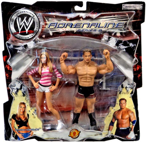 WWE Wrestling Adrenaline Series 2 Stacy Keibler & Test Action Figure 2-Pack