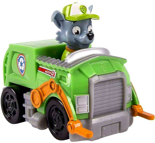 Paw Patrol Rescue Racer Rocky in Recycle Truck Figure [Figure Does Not Come Out!]