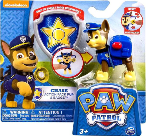 Paw Patrol Action Pack & Badge Chase Figure