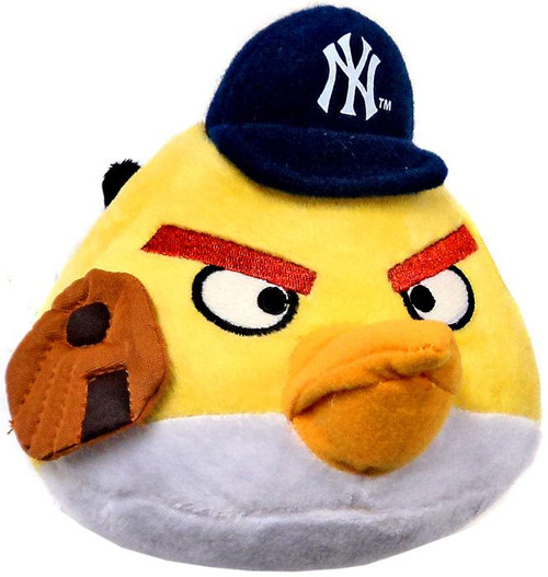 Angry Birds MLB Yellow Bird 6-Inch Plush [New York Yankees]