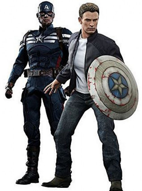 The Winter Soldier Movie Masterpiece Captain America & Steve Rogers Collectible Figure Set