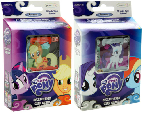 My Little Pony Collectible Card Game Premiere Rarity & Applejack Theme Decks