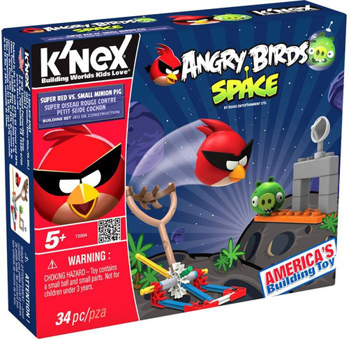 K'NEX Angry Birds Super Red vs. Small Minion Pig Set #72004