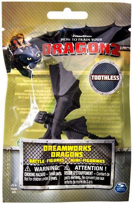 How to Train Your Dragon 2 Dreamworks Dragons Battle Figures Toothless Minifigure [Wings Out]