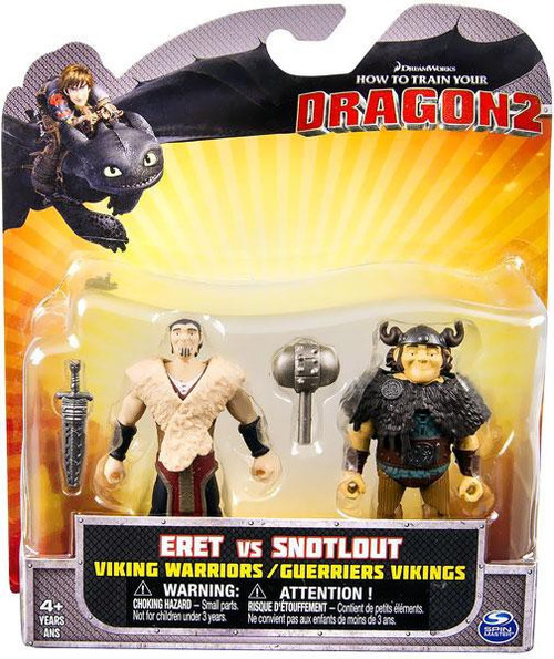 How to Train Your Dragon 2 Eret vs. Snotlout Action Figure 2-Pack [Viking Warriors]