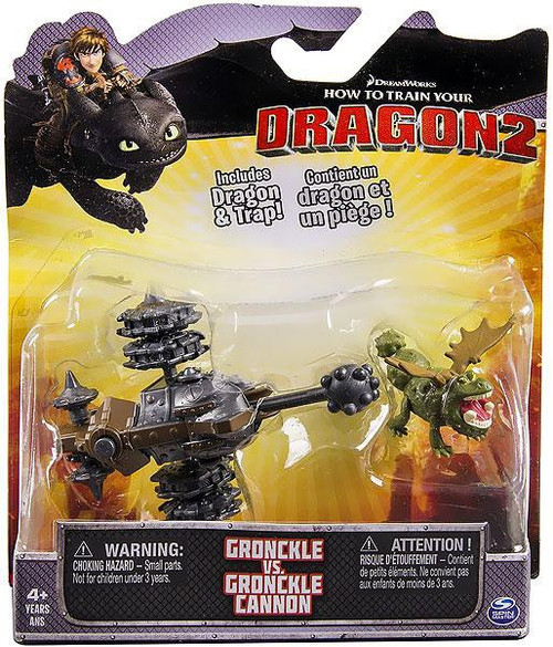 How to Train Your Dragon 2 Gronckle vs. Gronckle Cannon Action Figure 2-Pack