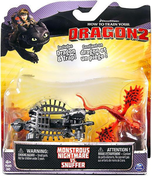 How to Train Your Dragon 2 Monstrous Nightmare vs. Snuffer Action Figure 2-Pack