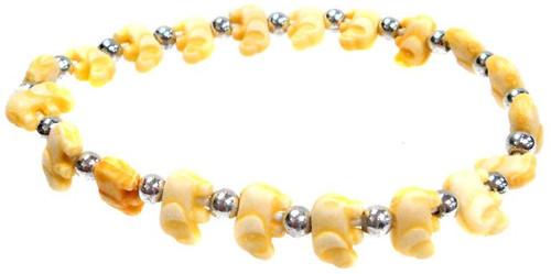 Elephantz Yellow Elephants Bracelet