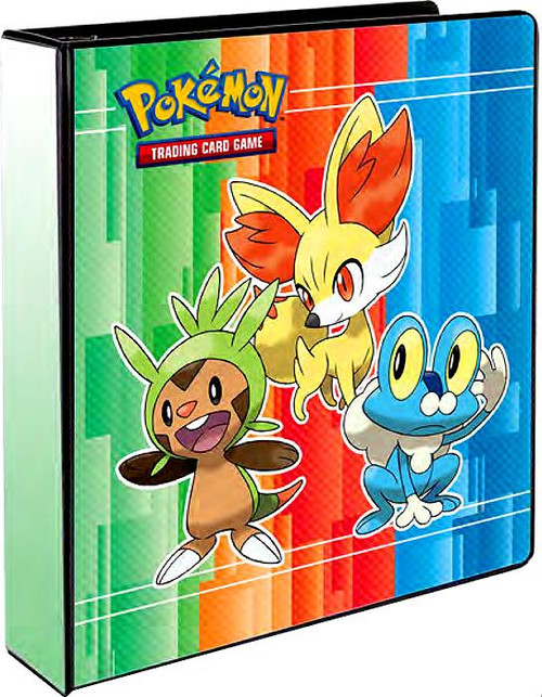 Ultra Pro Pokemon Black & White Froakie, Fennekin & Chespin D-Ring Binder