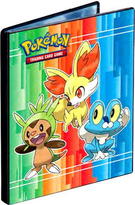 Ultra Pro Pokemon Trading Card Game Card Supplies Froakie, Fennekin & Chespin 4-Pocket Binder