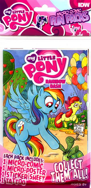 My Little Pony Fun Packs Rainbow Dash Micro Comic Book Fun Pack