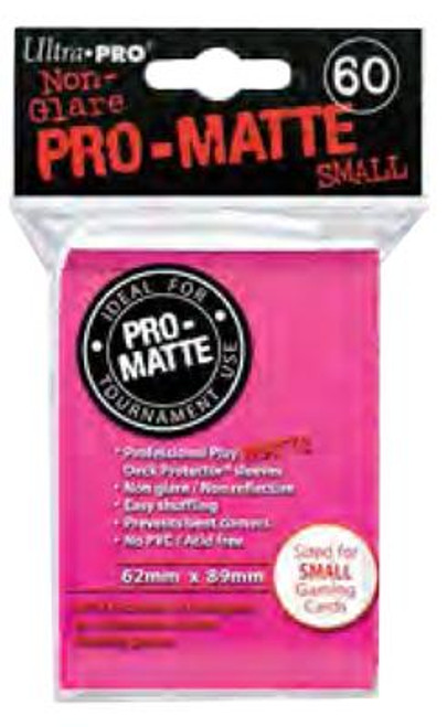 Ultra Pro Card Supplies Non-Glare Pro-Matte Bright Pink Small Card Sleeves [60 Count]