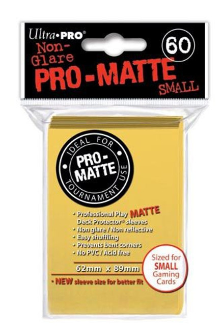 Ultra Pro Card Supplies Non-Glare Pro-Matte Yellow Small Card Sleeves [60 Count]