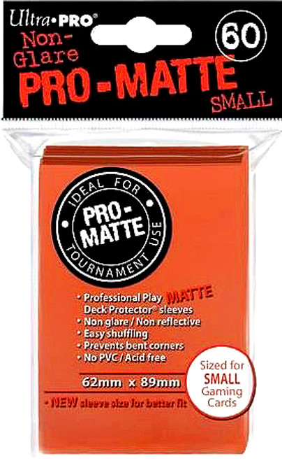 Ultra Pro Card Supplies Non-Glare Pro-Matte Orange Small Card Sleeves [60 Count]