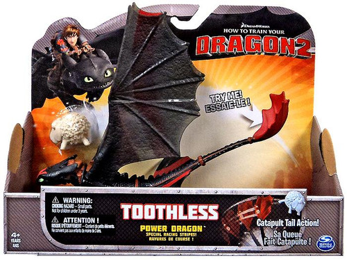 How to Train Your Dragon 2 Power Dragons Toothless Action Figure [Catapult Tail Action]