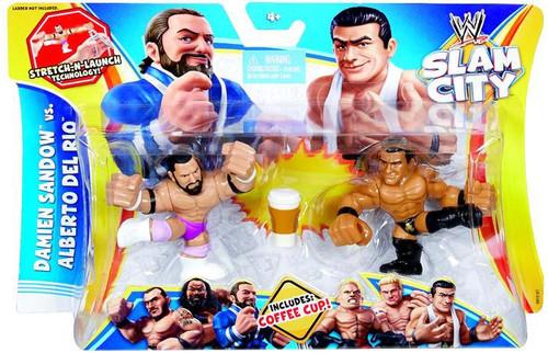 WWE Wrestling Battle Pack Slam City Damien Sandow vs Alberto Del Rio Action Figure 2-Pack
