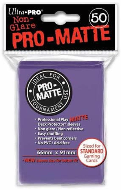 Ultra Pro Card Supplies Non-Glare Pro-Matte Purple Standard Card Sleeves [50 Count]