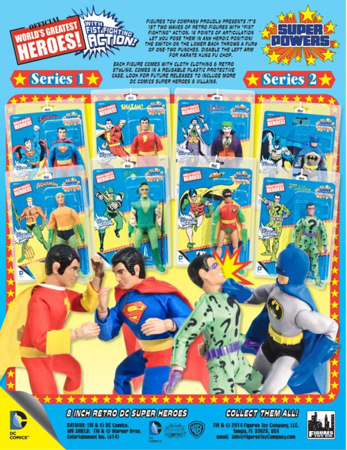 DC World's Greatest Heroes Super Powers Series 2 Set of 4 Action Figures
