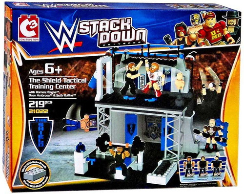 WWE Wrestling C3 Construction StackDown The Shield Tactical Training Center Playset #21022