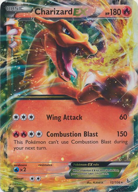 Pokemon X & Y Flashfire Ultra Rare Charizard EX #12
