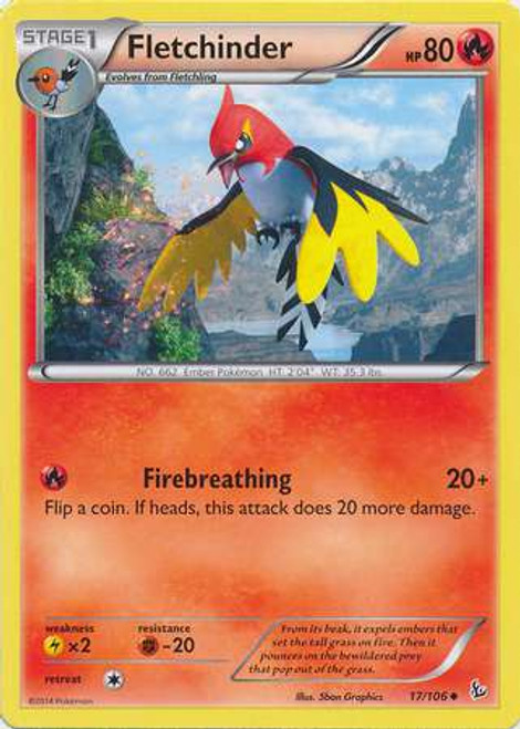 Pokemon X & Y Flashfire Uncommon Fletchinder #17